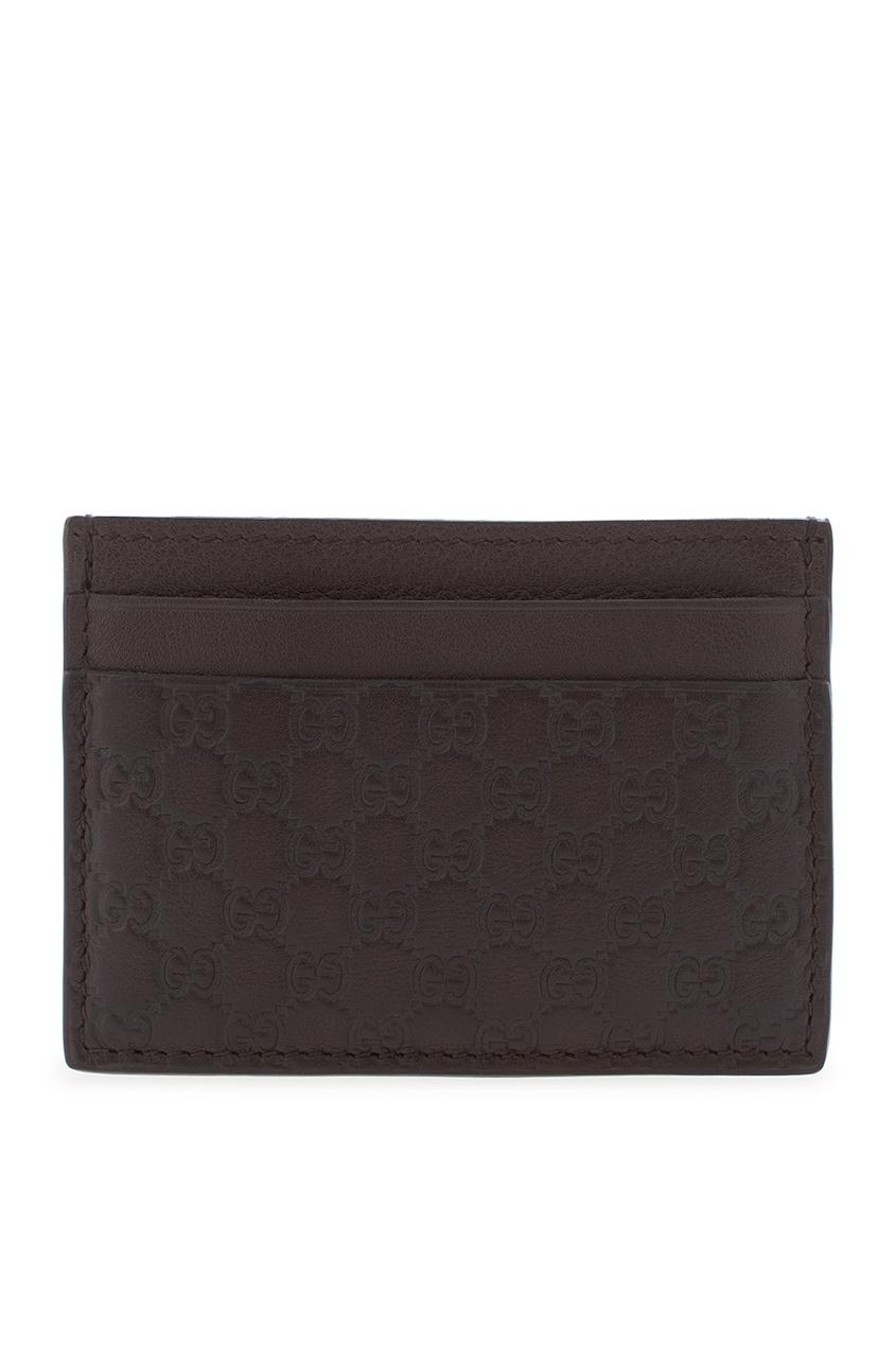 Фото 2 - Визитница от Gucci коричневого цвета