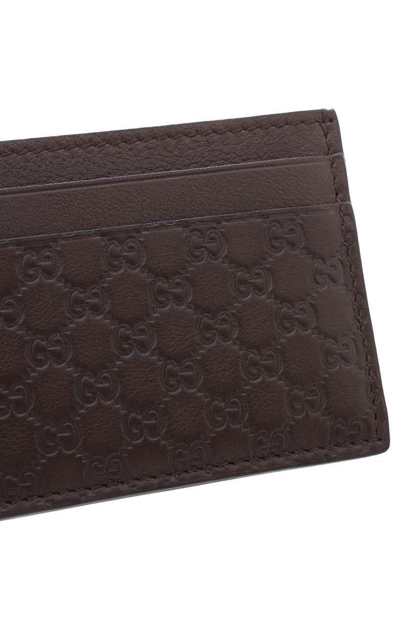 Фото 3 - Визитница от Gucci коричневого цвета
