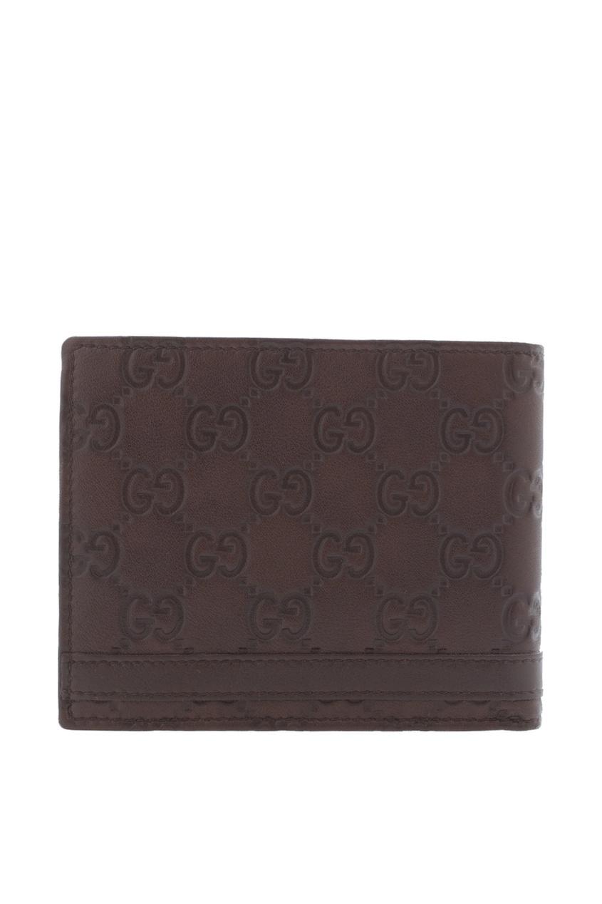 Фото 3 - Кожаный бумажник от Gucci коричневого цвета