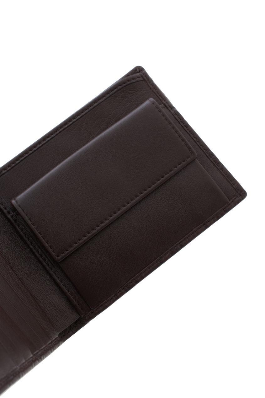 Фото 5 - Кожаный бумажник от Gucci коричневого цвета