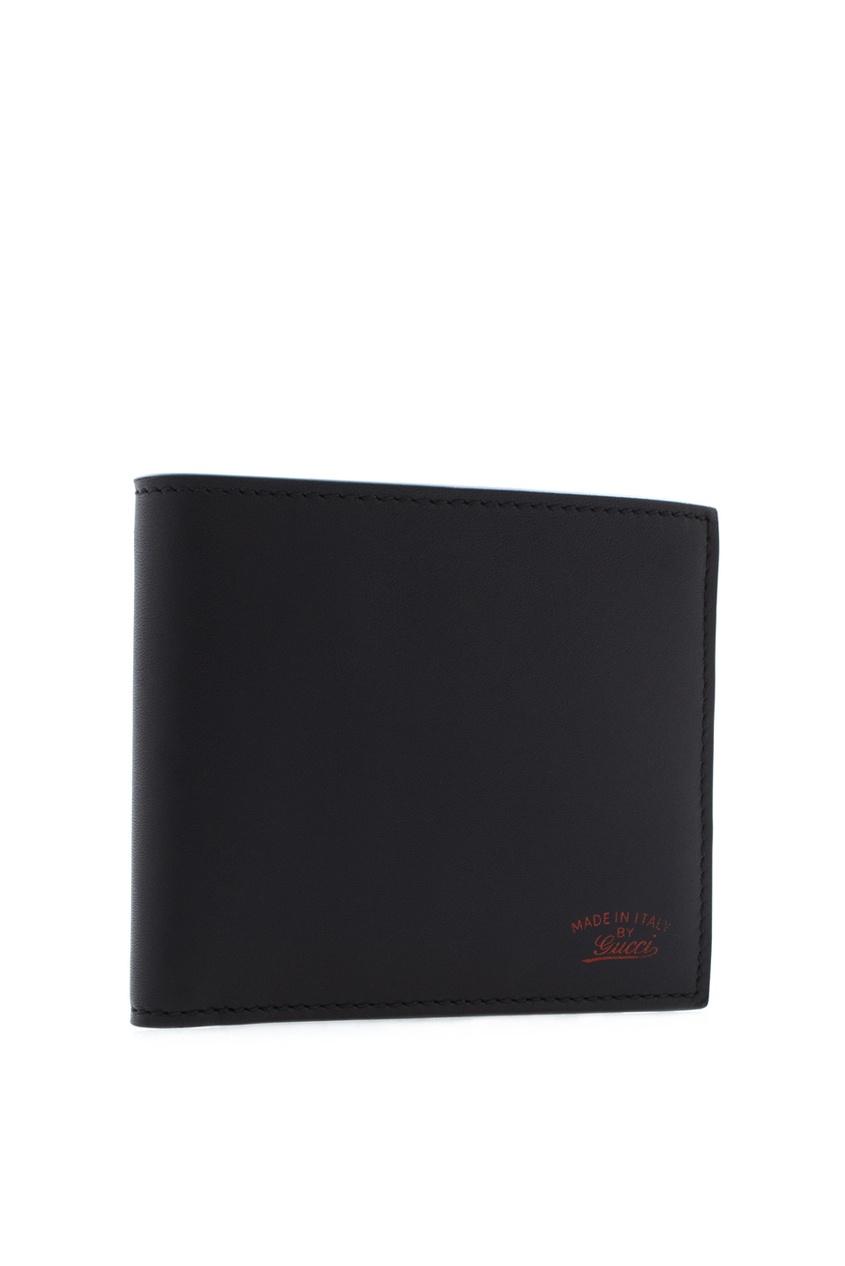 Фото 2 - Кожаный бумажник от Gucci черного цвета