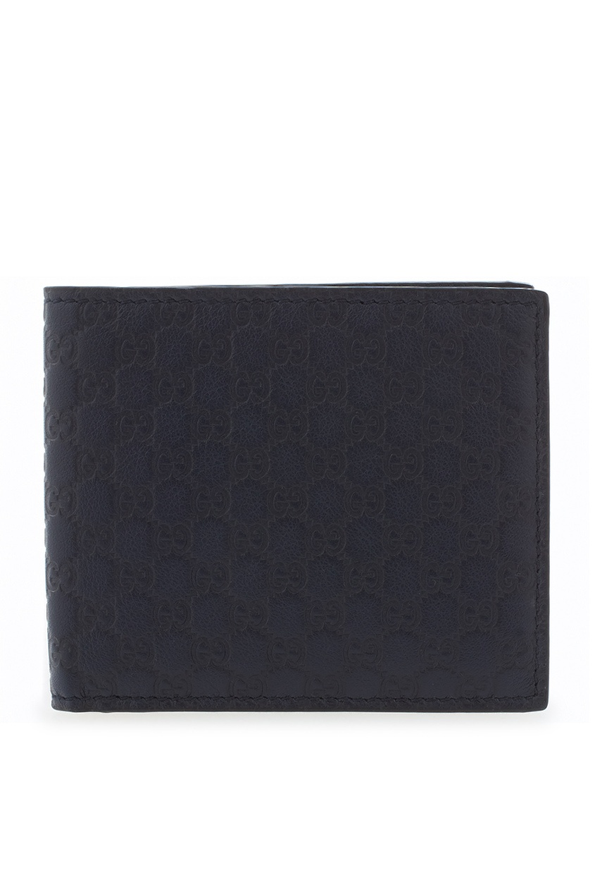 Фото - Кожаный бумажник от Gucci синего цвета