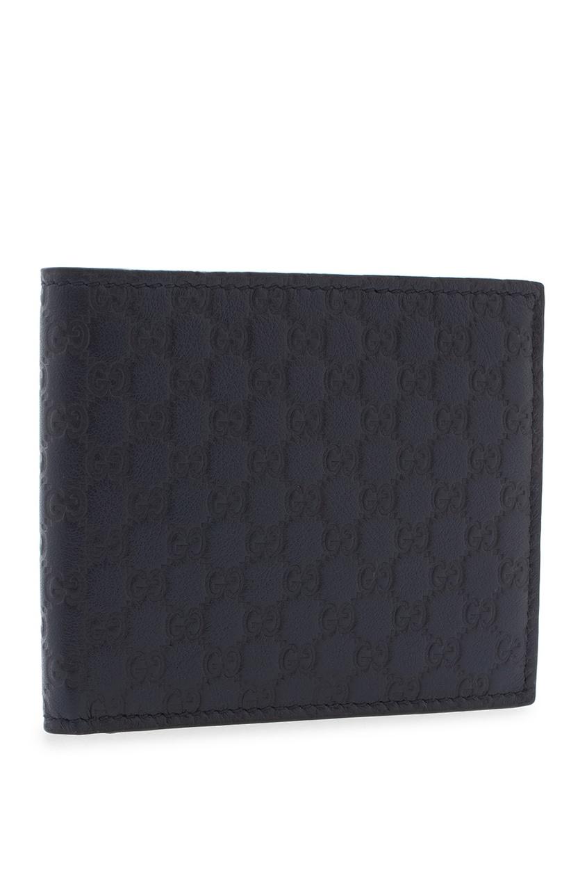 Фото 2 - Кожаный бумажник от Gucci синего цвета