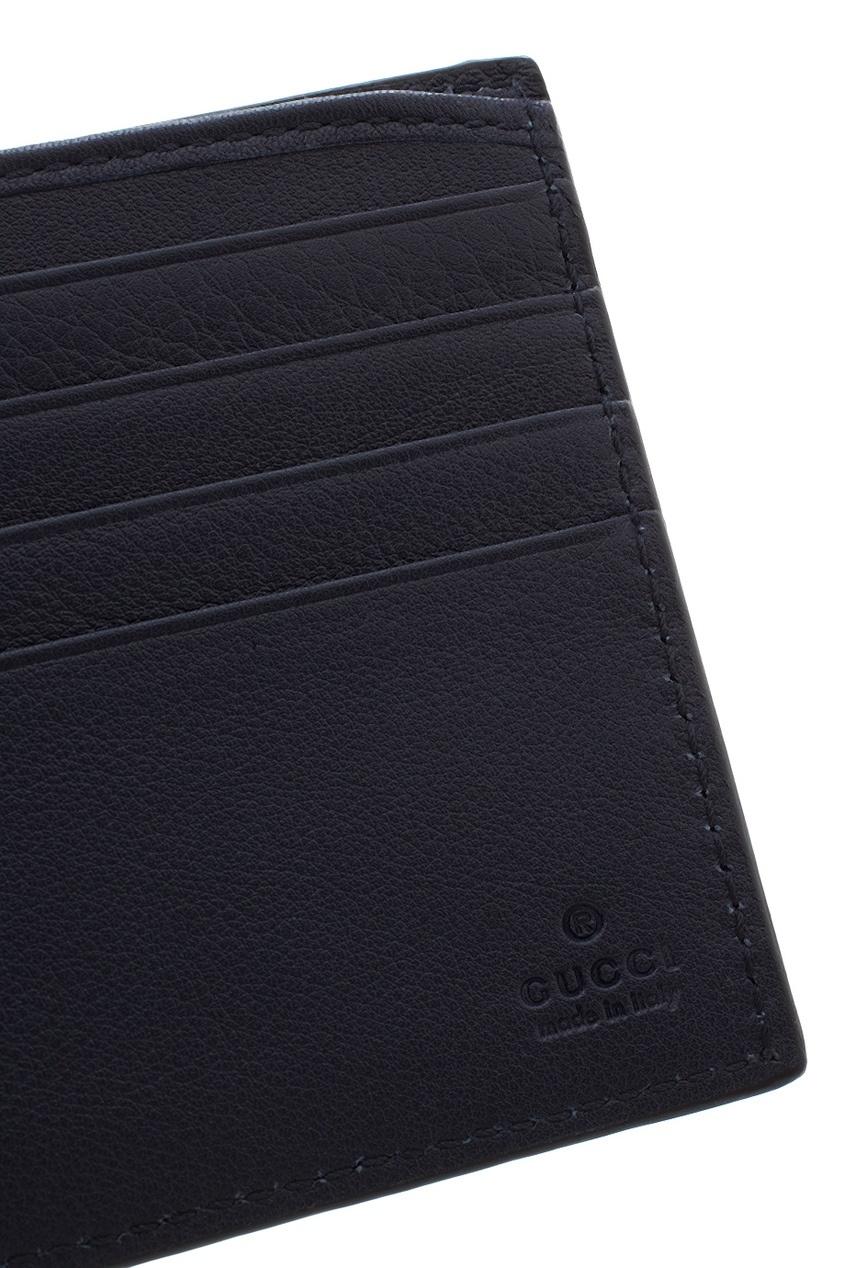 Фото 4 - Кожаный бумажник от Gucci синего цвета