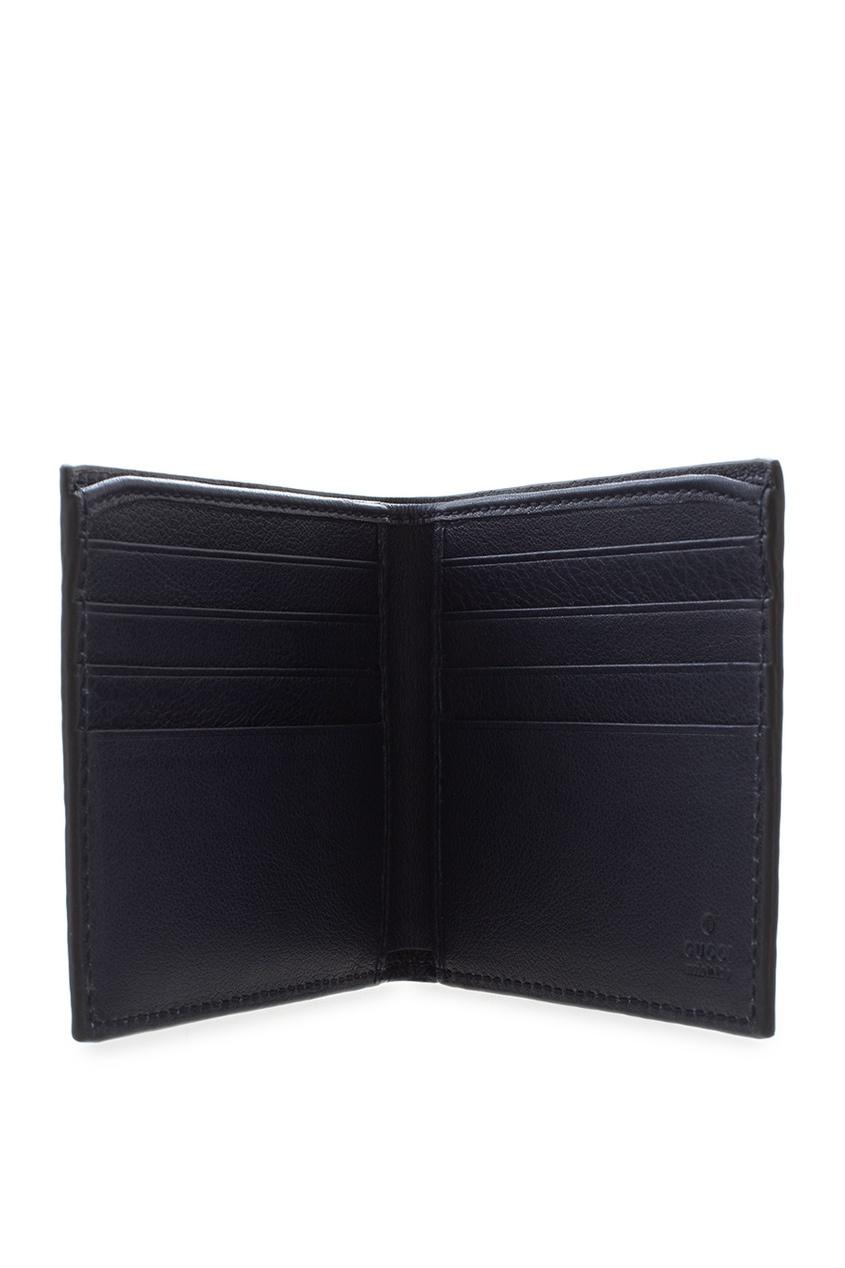 Фото 5 - Кожаный бумажник от Gucci синего цвета