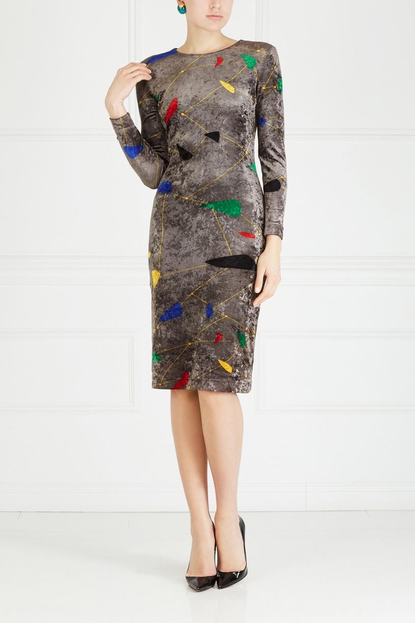Платье с принтом (80-е)