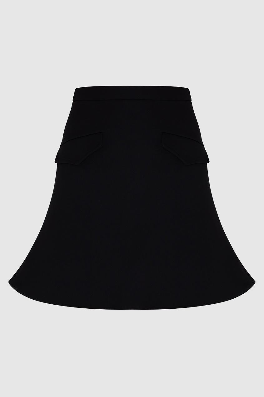 Однотонная юбка A-Line