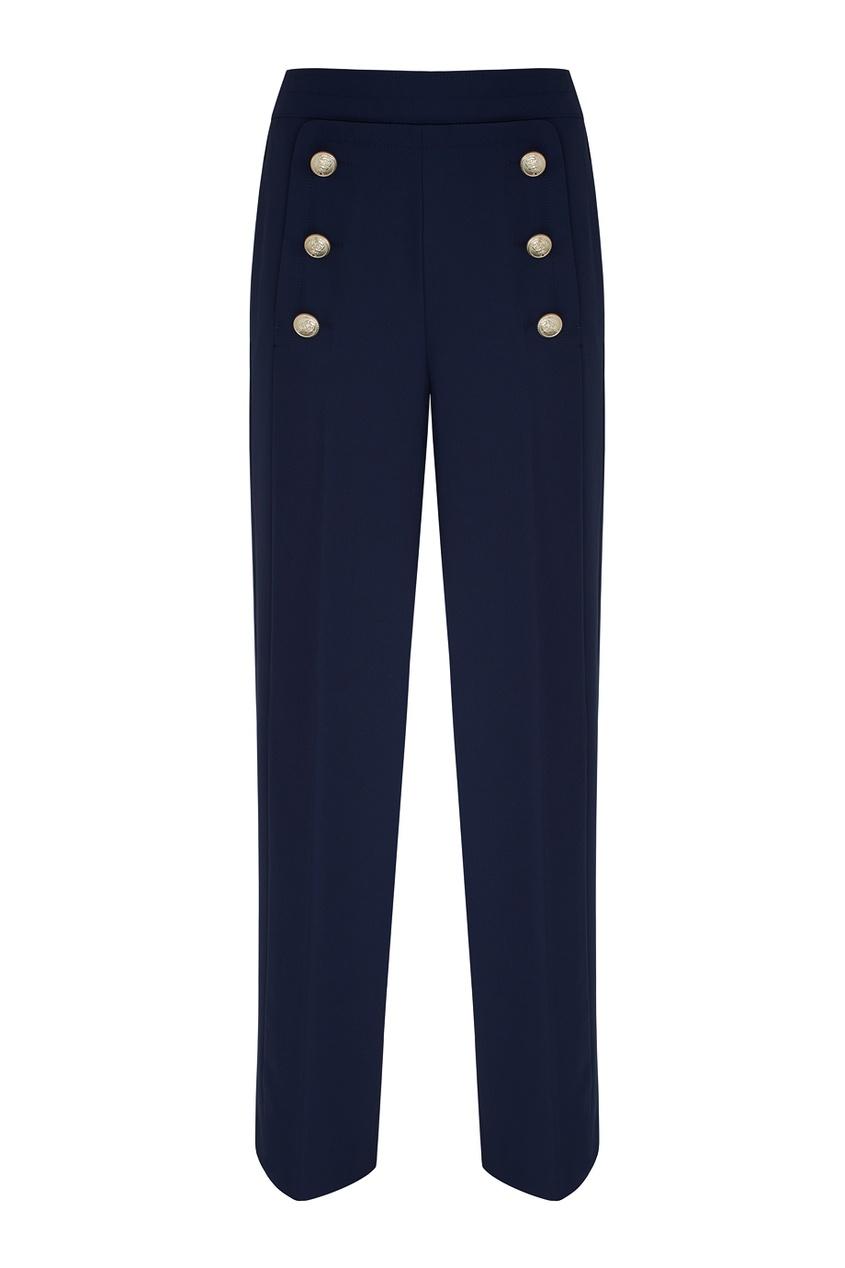 Однотонные брюки