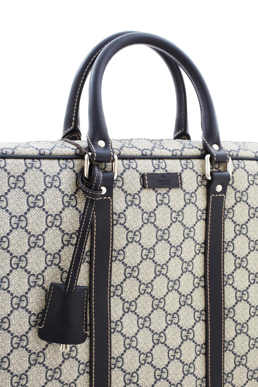 Фото 3 - Кожаная сумка от Gucci цвет multicolor