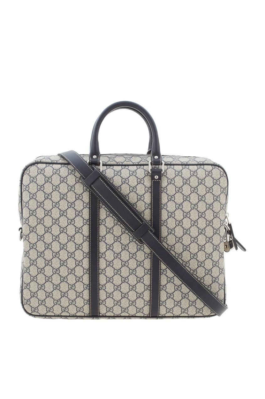 Фото 4 - Кожаная сумка от Gucci цвет multicolor