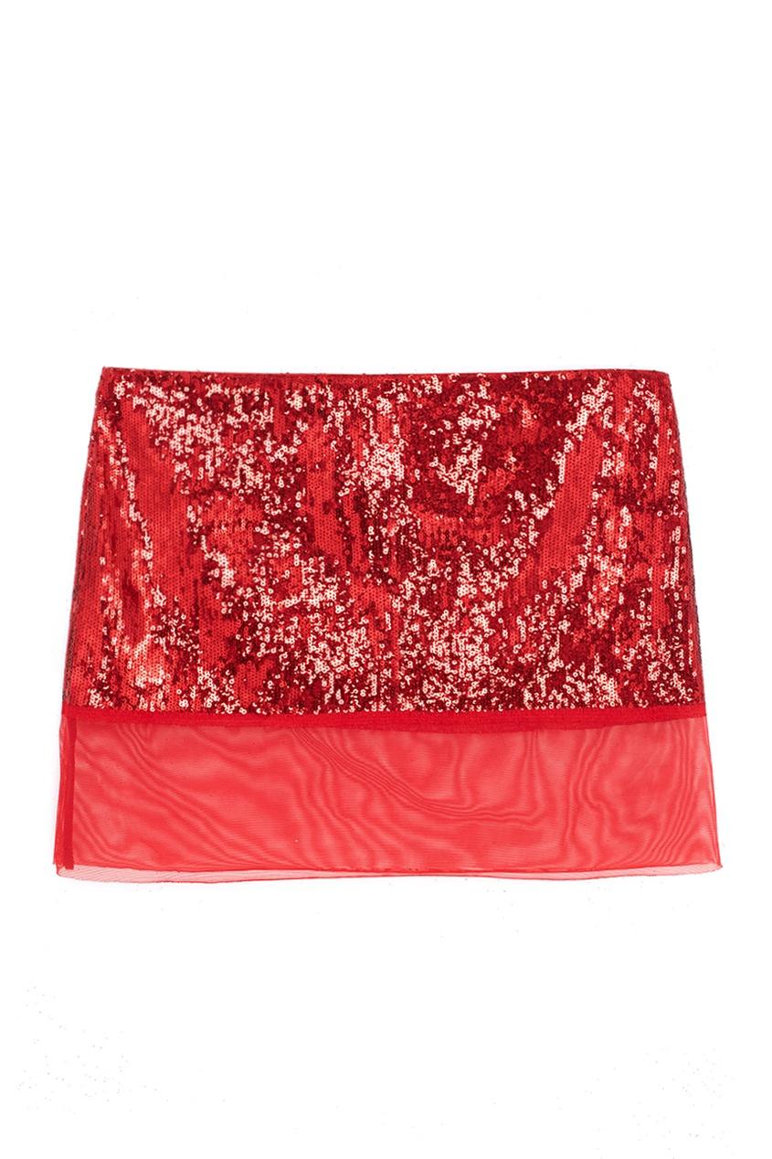 Юбка с вышивкой Ester Abner. Цвет: красный