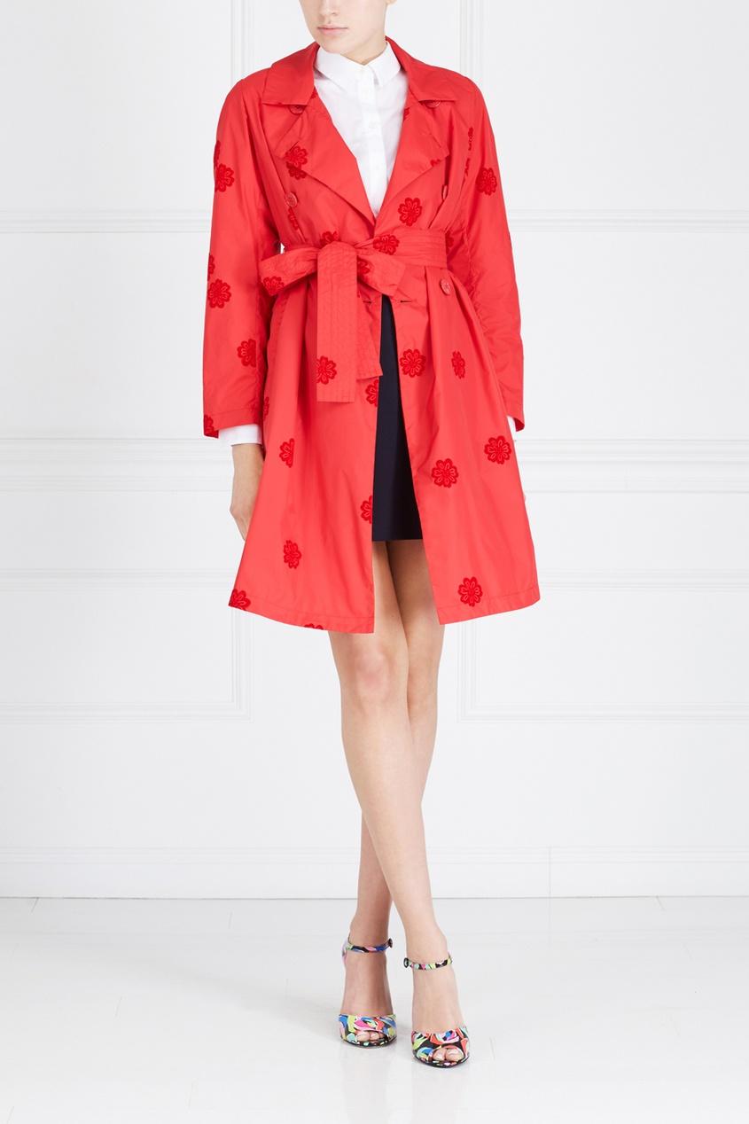 Однотонное пальто