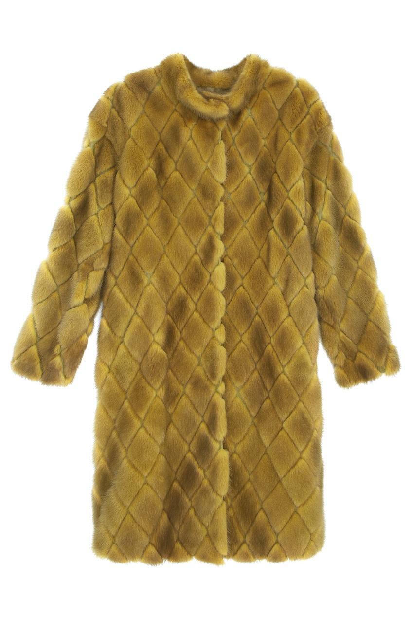 Норковое пальто «Ромбы»