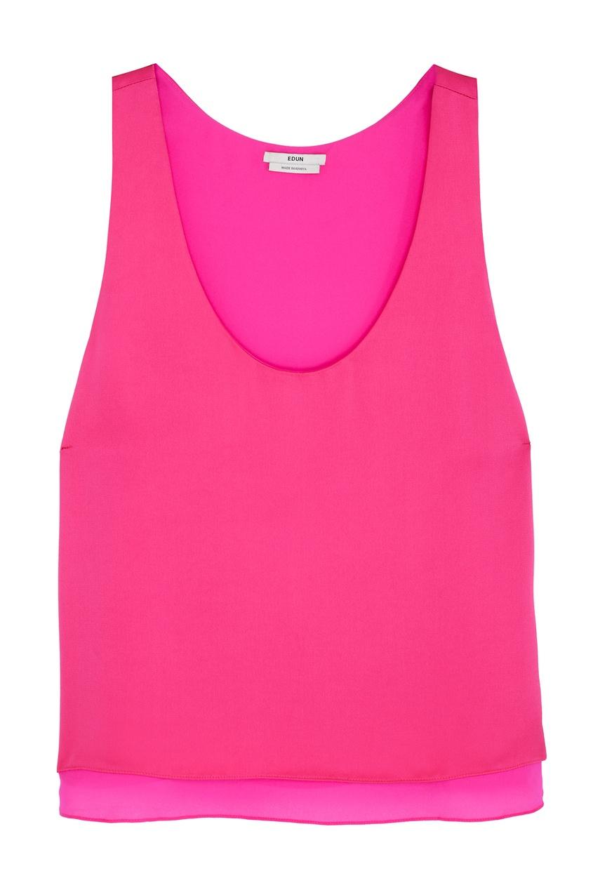 Однотонный топ Edun. Цвет: розовый