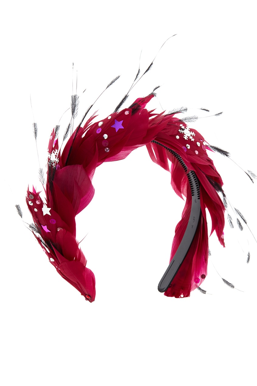 Фото - Ободок для волос от Konstantin Gayday красного цвета