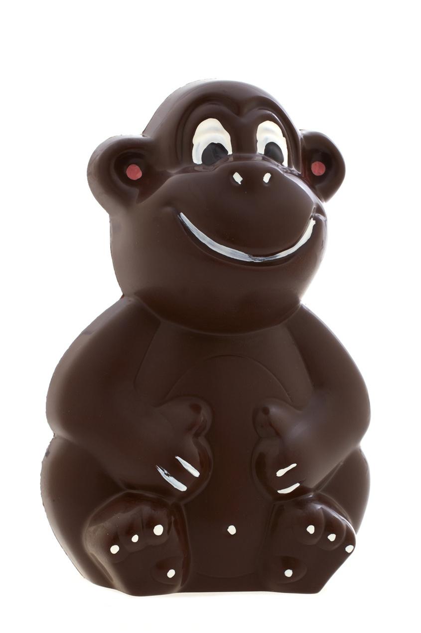 Фото 2 - Обезьянка из горького шоколада от Конфаэль цвет multicolor