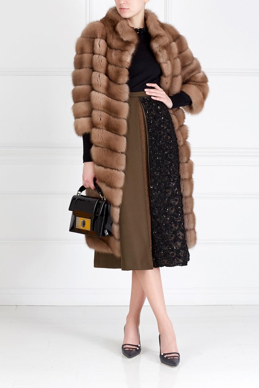 Пальто из меха куницы