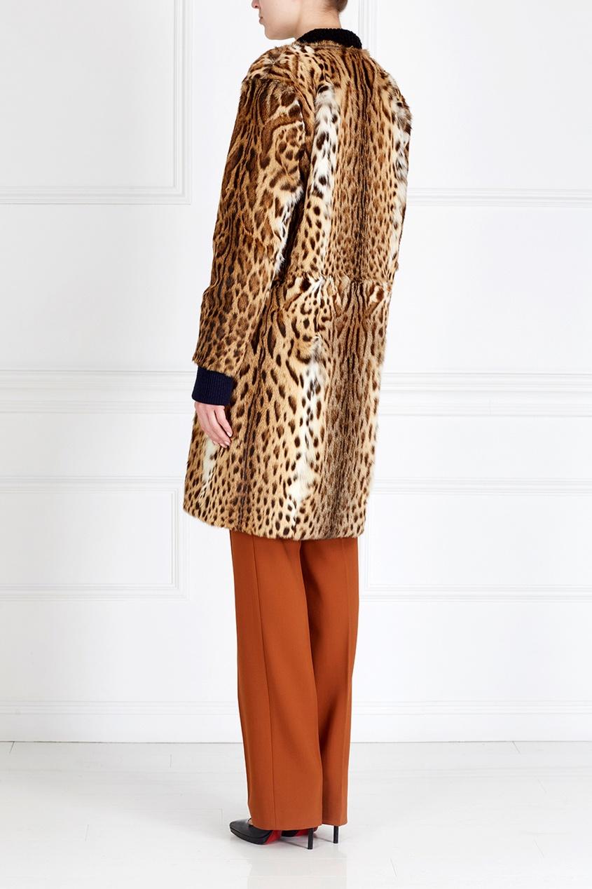 Фото 2 - Пальто из меха оцелота от Color°Temperature коричневого цвета