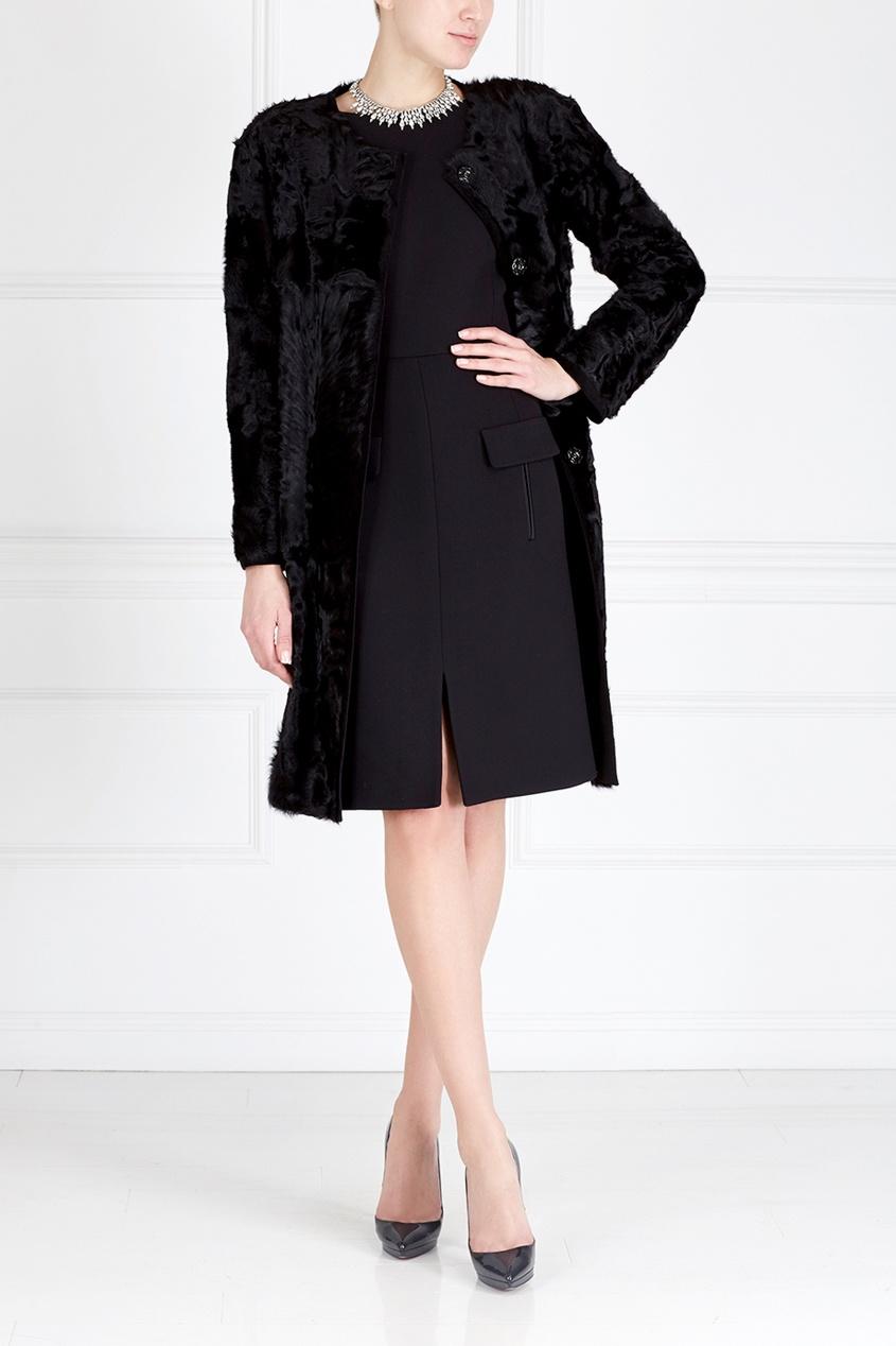 Фото - Пальто из меха козлика от Color°Temperature черного цвета