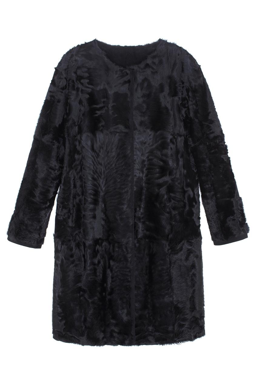 Фото 3 - Пальто из меха козлика от Color°Temperature черного цвета