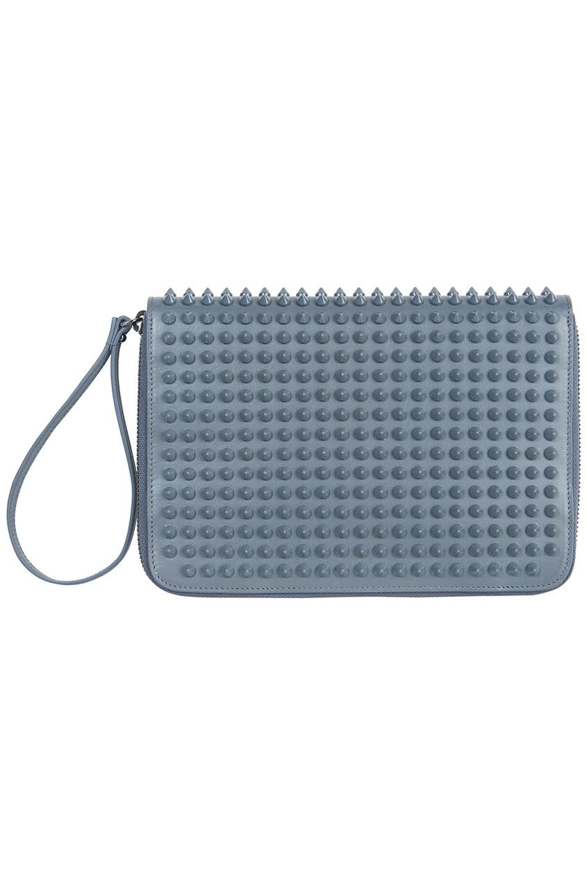 Кожаный бумажник Cris Case Mini Calf Paris/Spikes