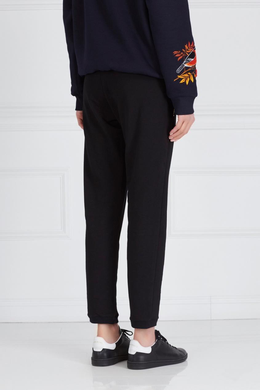 Фото 4 - Хлопковые брюки черного цвета