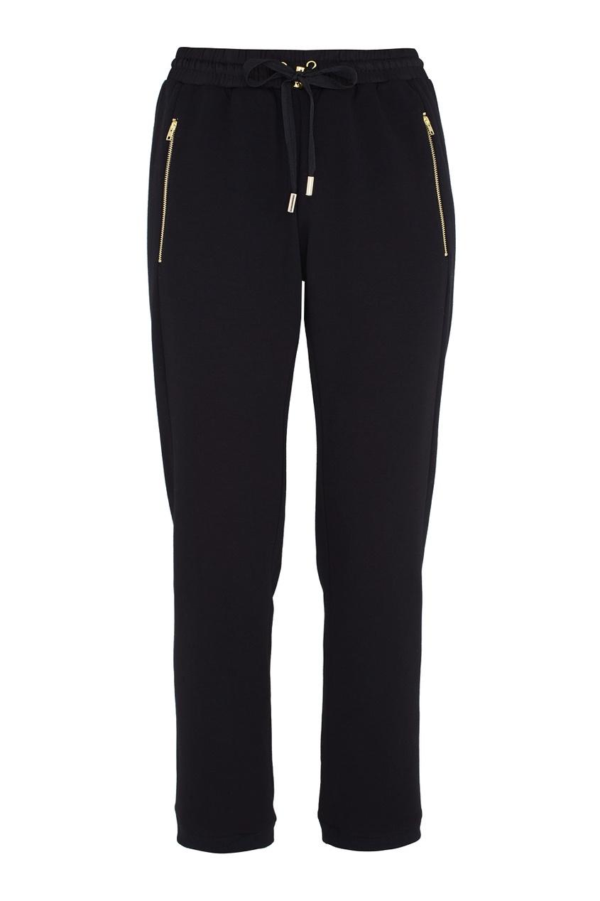 Фото 5 - Хлопковые брюки черного цвета