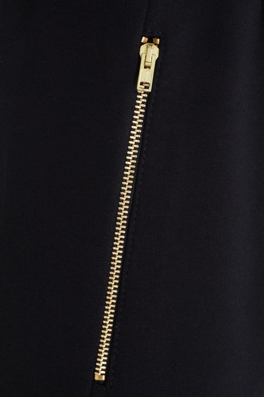 Фото 6 - Хлопковые брюки черного цвета