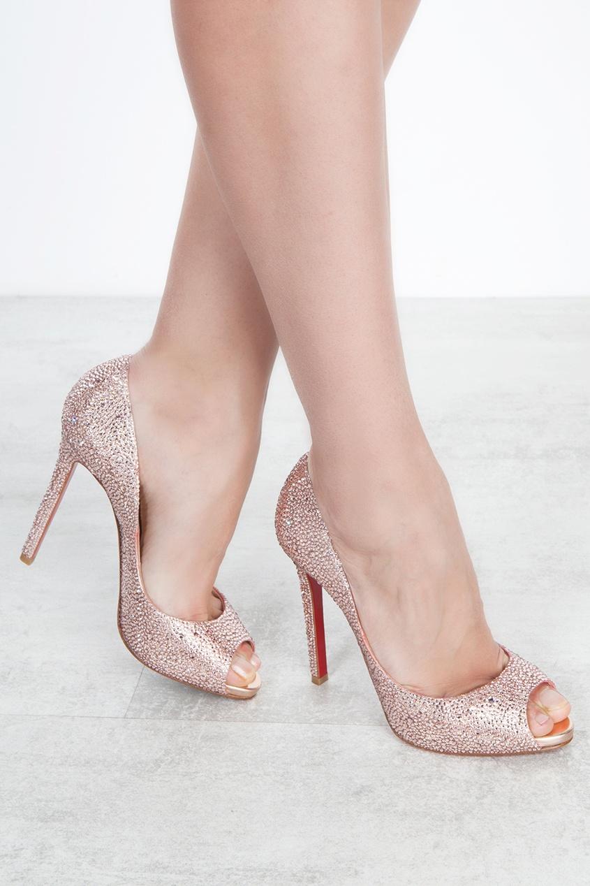 Туфли со стразами Flo Strass 120