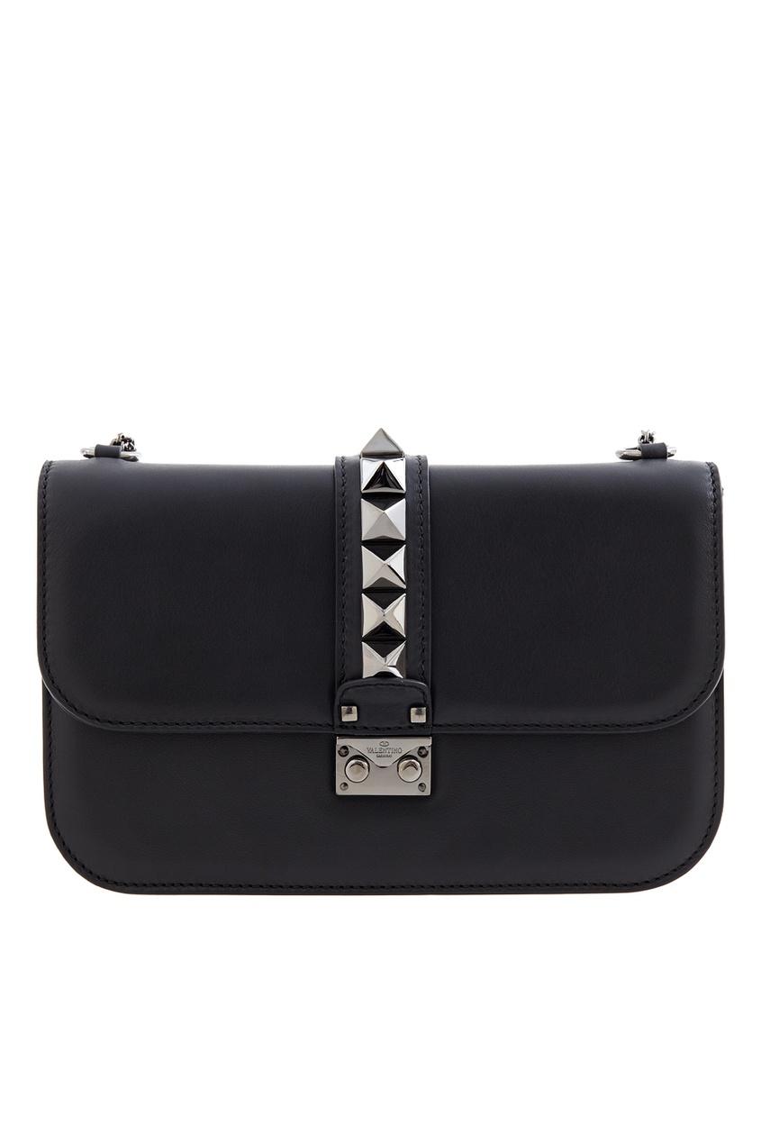 цена Valentino Кожаная сумка Lock онлайн в 2017 году