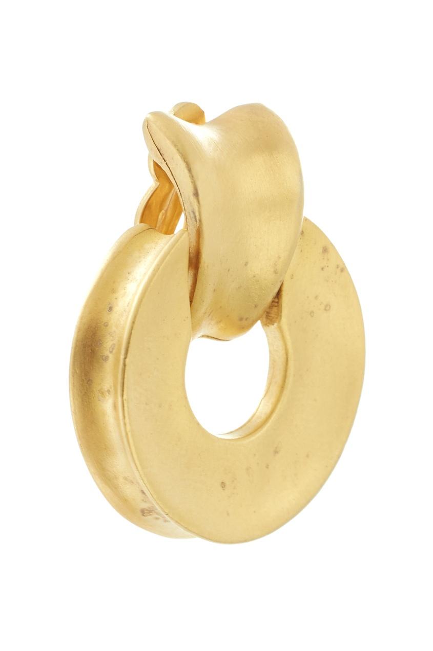 Фото 2 - Клипсы с матовой позолотой (90е) от Givenchy Vintage золотого цвета