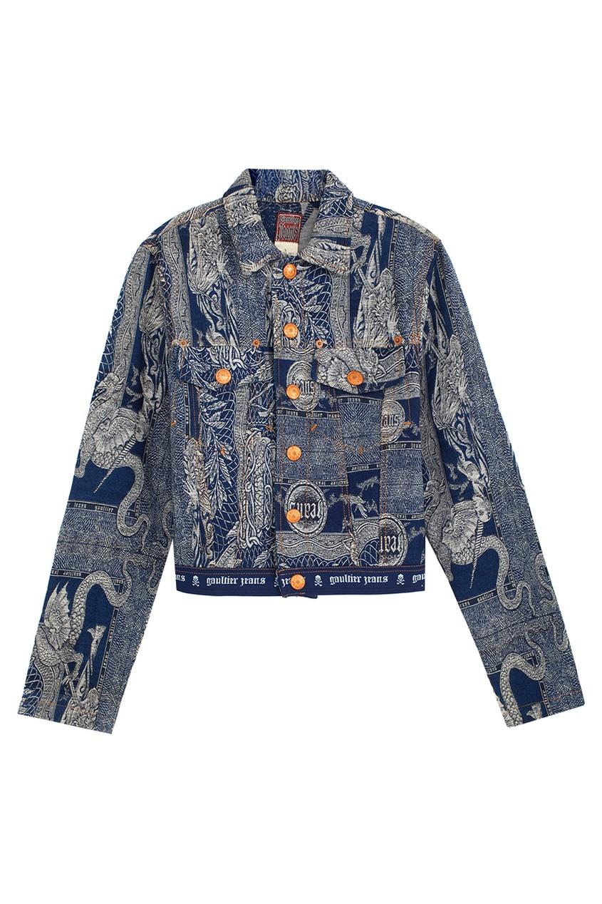 Jean Paul Gaultier Vintage Куртка из денима (90е) jean paul gaultier vintage жакет в полоску 1990 е