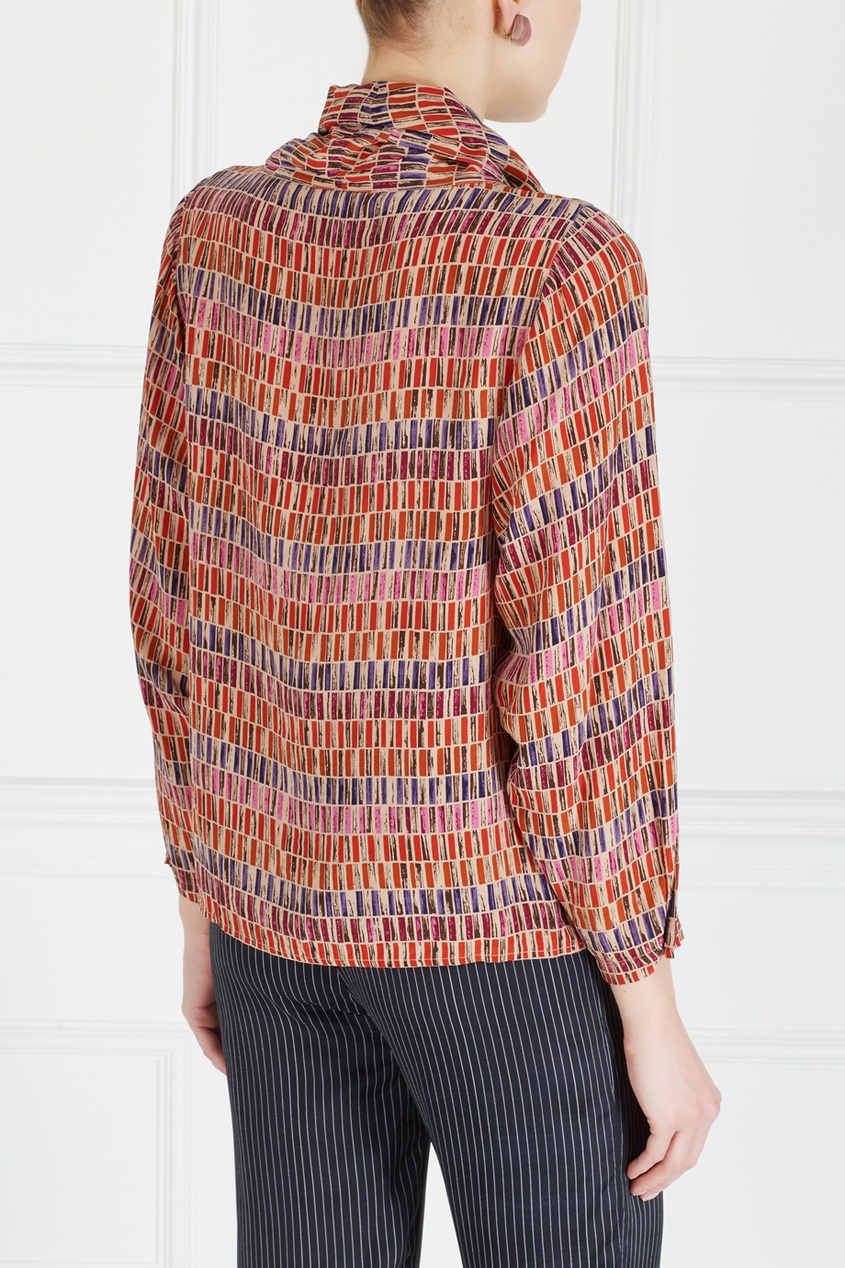 Фото 4 - Блузку винтажная (80е) от Christian Dior Vintage цвет multicolor