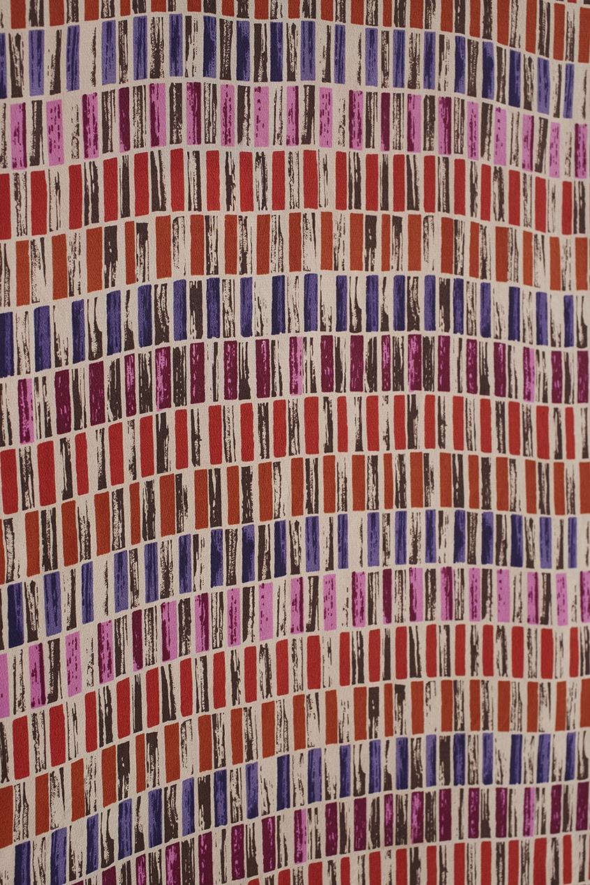 Фото 6 - Блузку винтажная (80е) от Christian Dior Vintage цвет multicolor