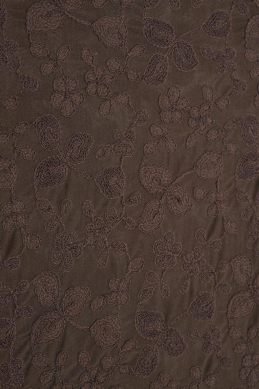 Фото 5 - Топ (90е) от Ozbek Vintage коричневого цвета