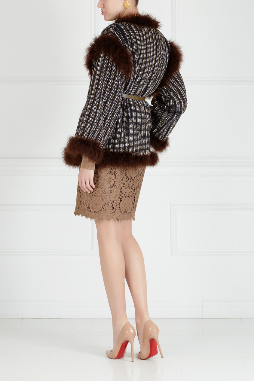 Фото 2 - Юбку (80е) от Lolita Lempicka Vintage коричневого цвета