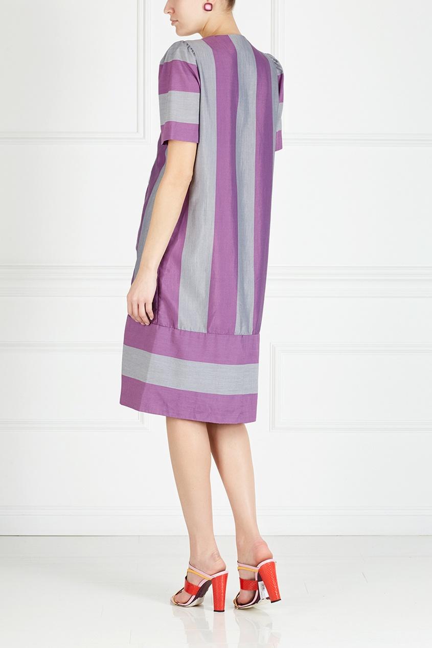 Фото 4 - Платье винтажное (80е) от Leslie Fey Vintage фиолетового цвета