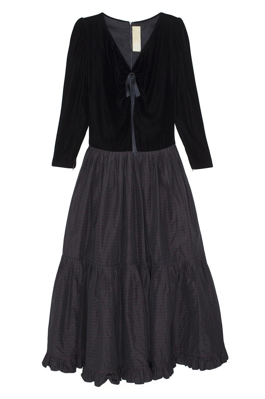 Платье бархатное (80е)