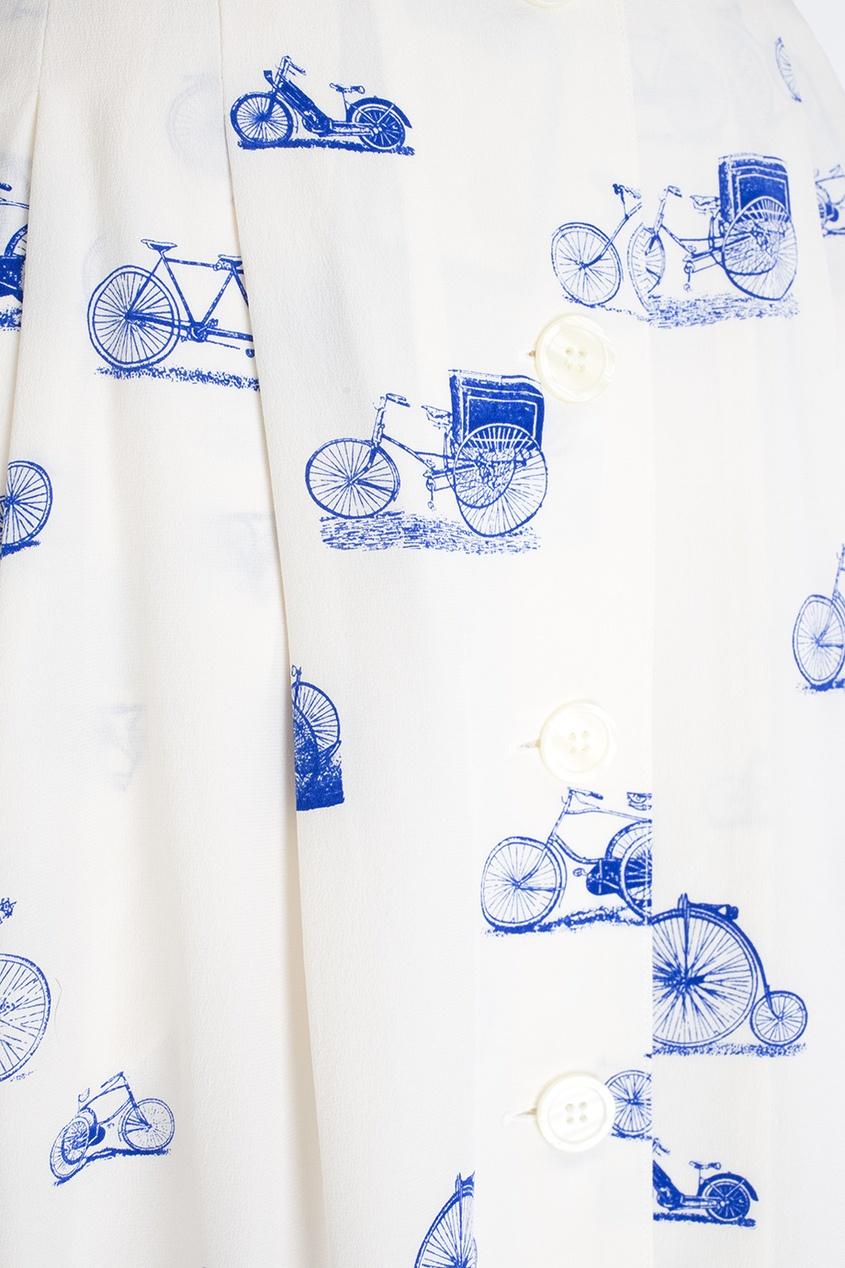 Фото 2 - Юбку винтажная (80e) от Krizia Vintage белого цвета