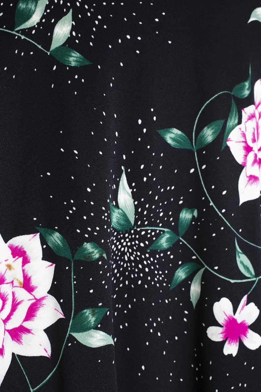 Фото 2 - Юбку винтажная (70e) от Hanae Mori Paris Vintage цвет multicolor