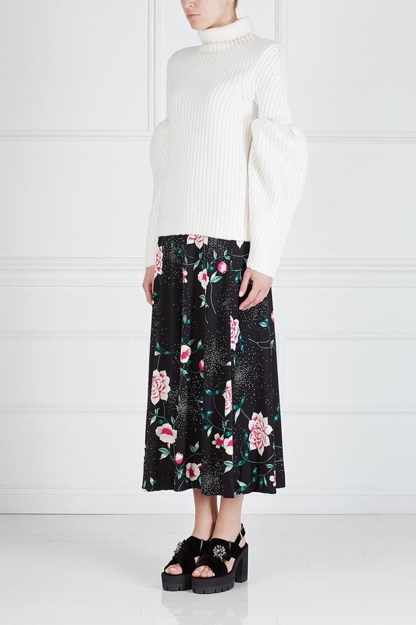 Фото 3 - Юбку винтажная (70e) от Hanae Mori Paris Vintage цвет multicolor