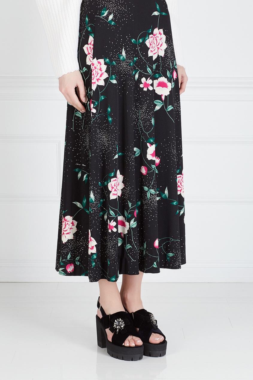 Фото 5 - Юбку винтажная (70e) от Hanae Mori Paris Vintage цвет multicolor