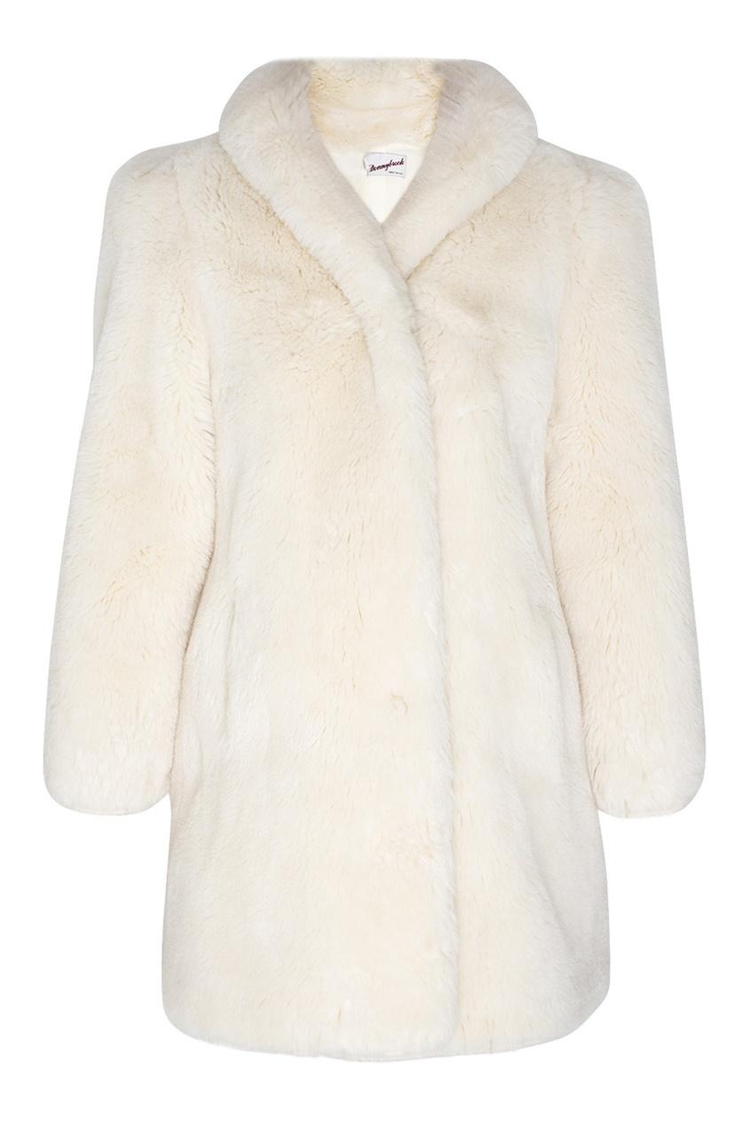 Фото 5 - Меховое пальто (80е) от Vintage No Names белого цвета