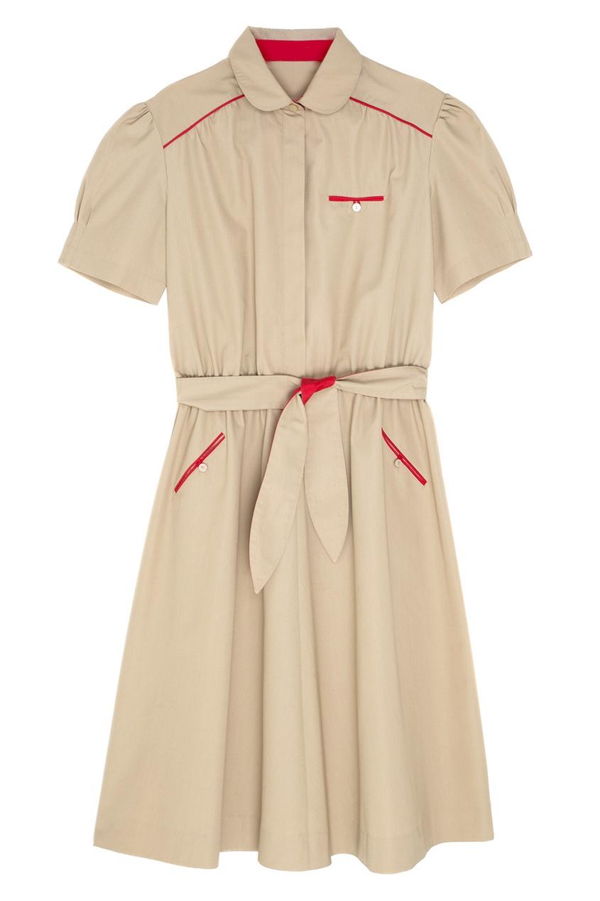 Фото 3 - Платье винтажное от Vintage No Names бежевого цвета