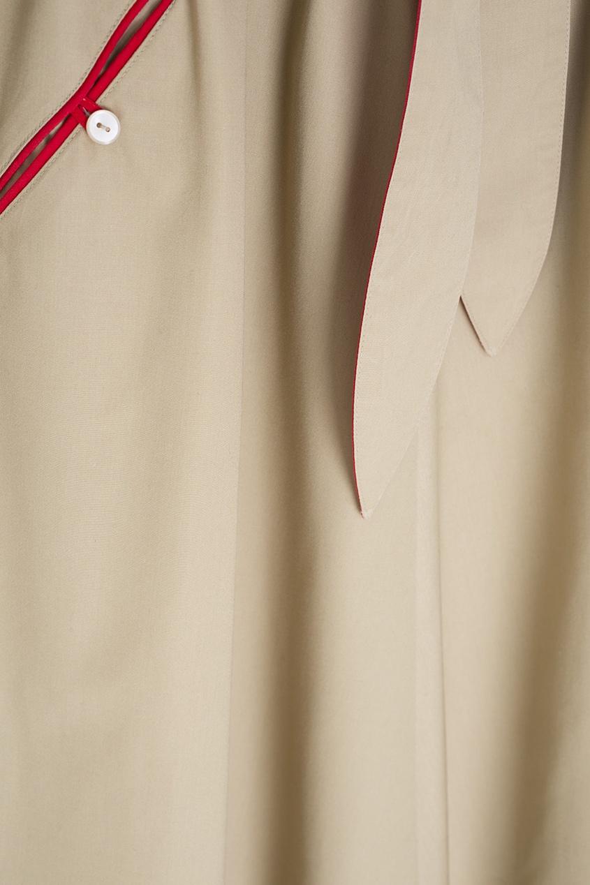 Фото 4 - Платье винтажное от Vintage No Names бежевого цвета