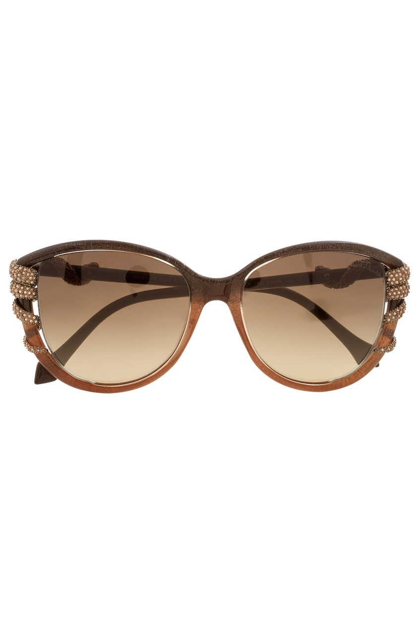 Roberto Cavalli Солнцезащитные очки vogue vogel очки черного кадра серебряного покрытия линза мода полной оправе очки vo5067sd w44s6g 56мм