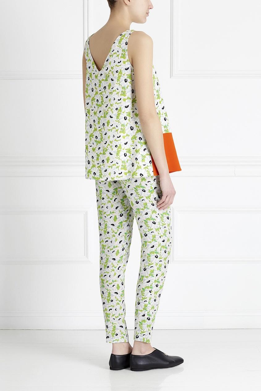 Фото 4 - Шелковые брюки от Stella McCartney цвет multicolor