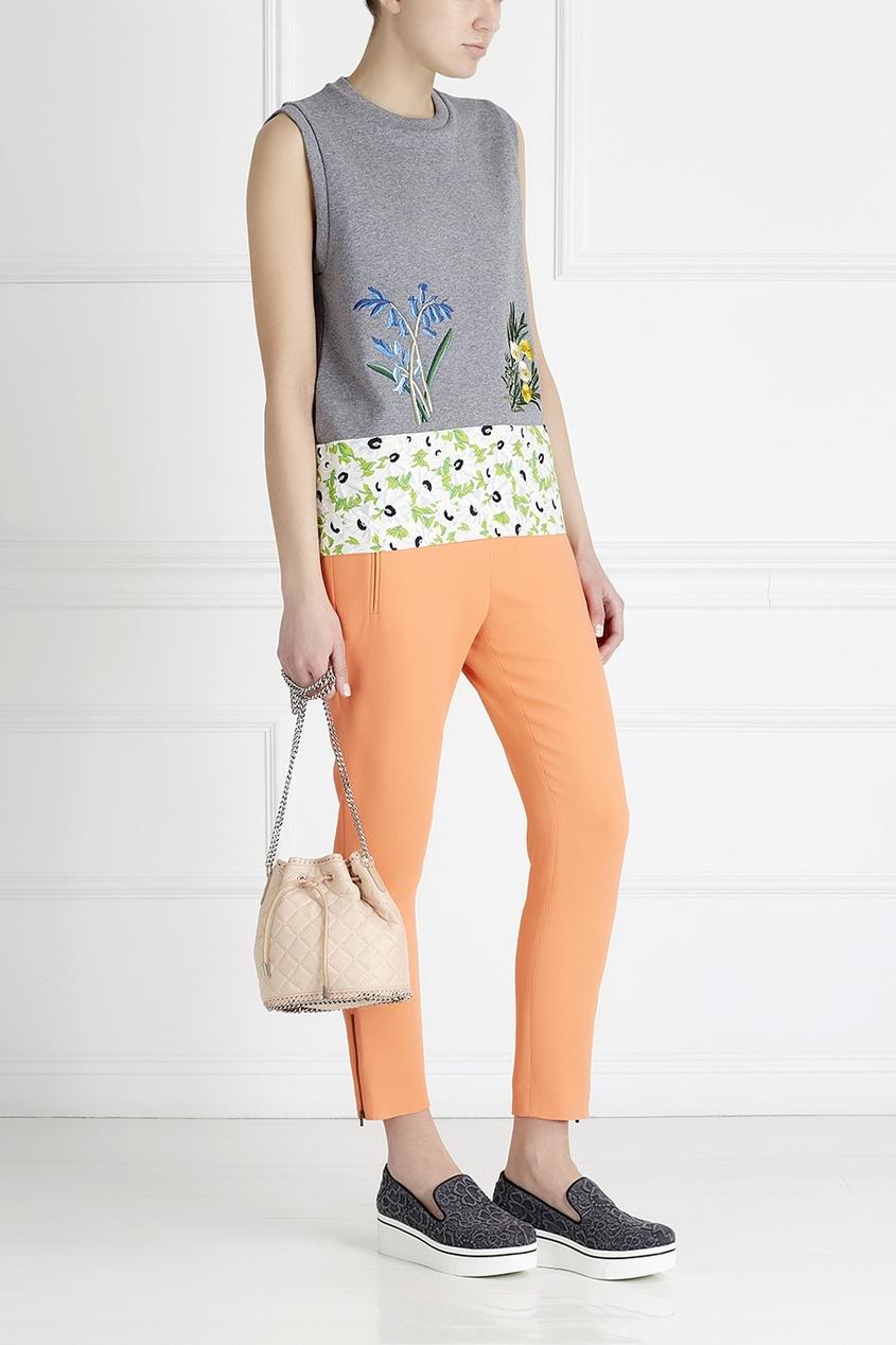 Фото 3 - Однотонные брюки от Stella McCartney оранжевого цвета