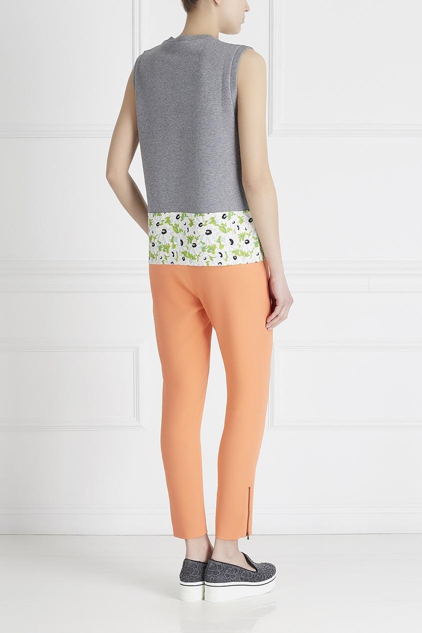 Фото 4 - Однотонные брюки от Stella McCartney оранжевого цвета