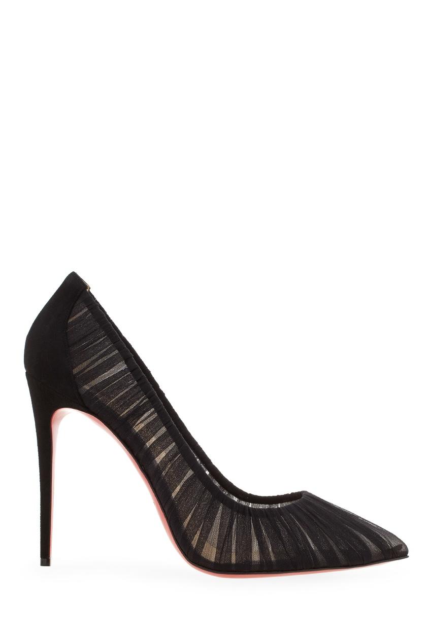 Шелковые туфли Follie Draperia 100